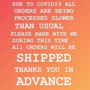 ALL ORDERS ARE BEING PROCESSED SLOWER THAN USUAL